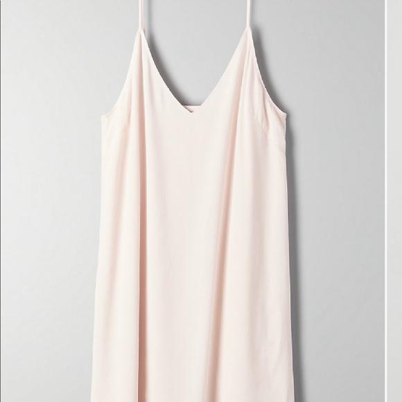 Aritzia Dresses & Skirts - Aritzia Wilfred Free Vivienne Pink Tint Dress